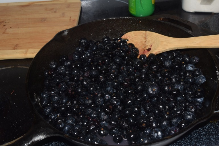 Prepping the Blueberries