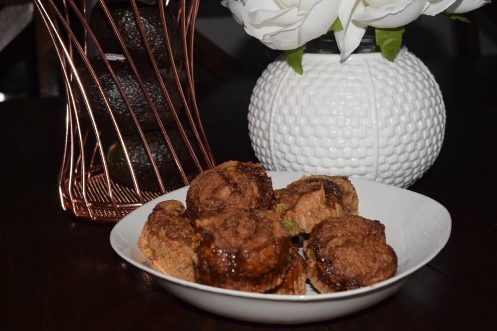Vegan Avo Cinnamon Muffins