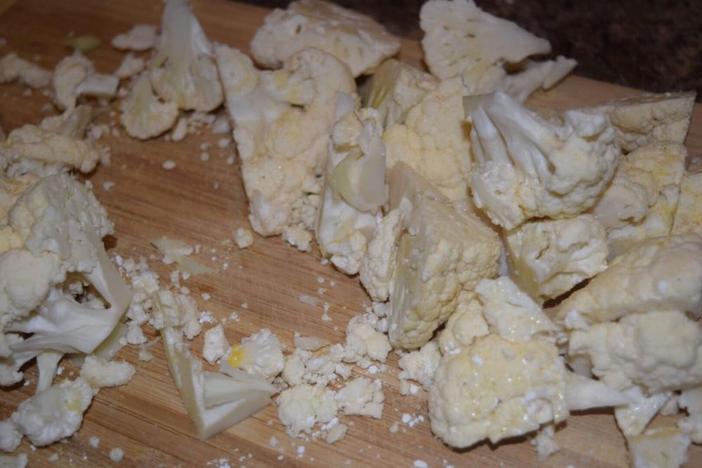 Chopped cauliflower