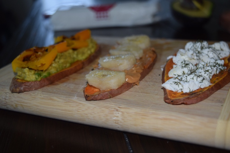 Sweet potato toast flavor combos